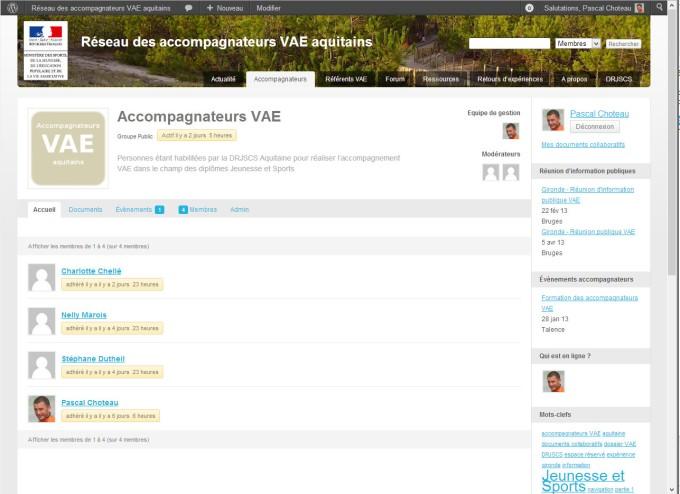Site internet des accompagnateurs VAE aquitains