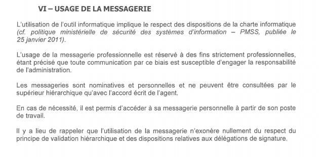Charte utilisation messagerie
